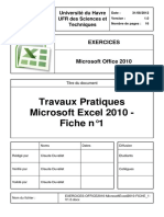 Exercices Office2010 Microsoftexcel2010 Fiche 1 v1.0