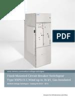 Catalog HA 35.61 Fixed-Mounted Circuit-Breaker Switchgear NXPLUS C Wind
