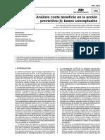Analisis Costo Beneficio Prevencion