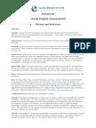 Social Impact Assessment Glossary 12