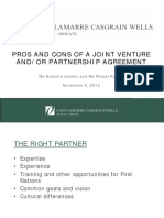 Pros and Cons of a Joint Venture And_or Partnership Agreement