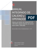 Manual Integrado de Calidad y Operaciones 4.1
