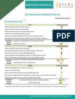 Informe de Mercados Agricolas - Diciembre 2017