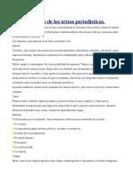 Características de Los Textos Periodísticos