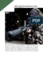 10 Najspremnijih Vojnih Formacija Na Svetu