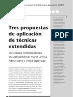 Tres propuestas de aplicación de técnicas extendidas en la flauta contemporánea en Latinoamérica