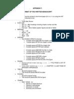 Appendix F Format