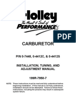 Holley 2 Barrell Carb 350cfm