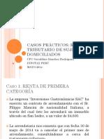 CASOS PRÁCTICOS Régimen Tributario de No Domiciliados