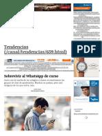 Sobrevivir Al WhatsApp de Curso _ Tendencias _ LA TERCERA