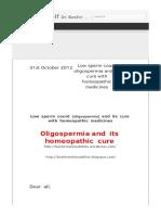 Low Sperm Count Oligospermia and Its.html
