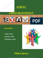 Survey - A research Design