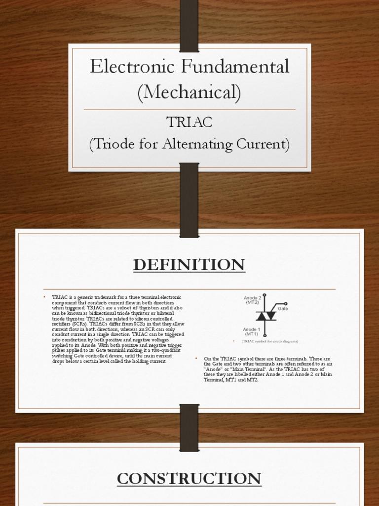 Electronic Fundamental (Mechanical) Triac (3) | Power