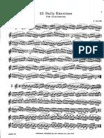 SAXOFONE - ESTUDOS - H[1]. Klose - 25 Exercícios Diários Para Saxofone