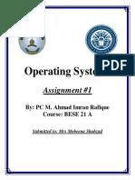 Assignment # 1 Os PDF