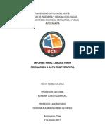 Pirometalurgia del plomo y refinacion a fuego