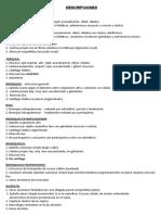 Histología II Descripciones Primera Unidad