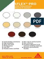 Sikaflex PRO Colour Chart