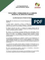 Comision Municipal de Derechos Humanos BAHÍA de BALDERAS NAYARIT