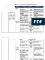 Matriz de Indicadores Para Condiciones de Aprendizaje