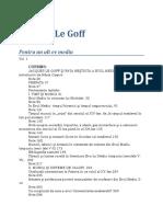 Jacques Le Goff-Pentru Un Alt Ev Mediu V1