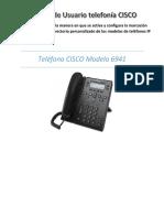 Manual de Usuario Telefonía CISCO 6941