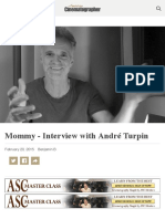 Mommy - Interview with André Turpin - The American Society of Cinematographers