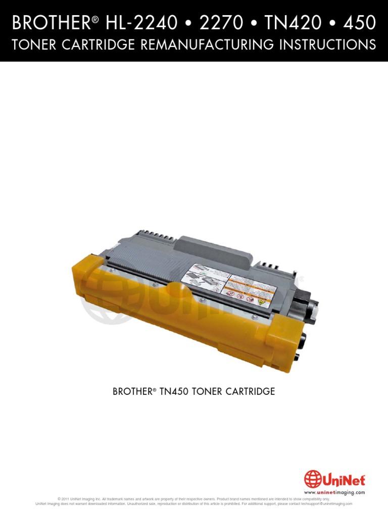 Brother HL-2240 • 2270 • TN420 • 450: Toner Cartridge