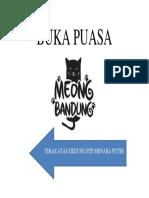 Buka Puasa Meong Bandung