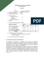 Silabo de Automatas y Compiladores - Trujillo 2011-1