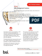 BSI Diploma in Quality Management Systems BSI Training Sales Flyer UK En