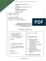 LegalForce RAPC v. TrademarkEngine, Inc. Filed Complaint December26 2017