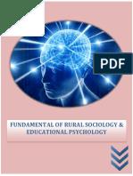 Fundamental of Rural Sociology Educational Psychology