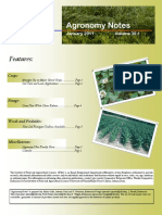 January 2011 Agronomy Notes