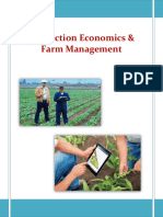 Production Economics Farm Management