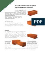 238695683 Tipos de Ladrillos Utilizados en El Peru Imprimir