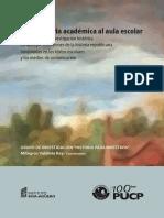 De La Historia Académica Al Aula Escolar