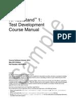 Ts1 Course Manual Sample