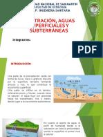 Infiltración de Aguas Superficiales y Subterráneas