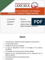 Del Porfirismo al Maderismo (Tlaxcala durante la Revolución de 1910).pptx