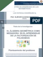 Ponencia álgebra geométrica