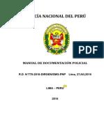 Manual de Documentación Policial Lima Perú