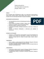Plano de Ensino Biologia Aplicada a EF
