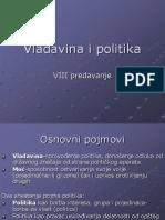 VIII Predavanje-Vladavina i Politika