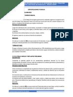 ESPECIFICACIONES TÉCNICAS DE IOSA DEPORTIVA