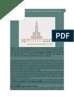 Recuento de Gracias y Omisiones Del Centenario de Fátima- Luis Eduardo Lopez Padilla