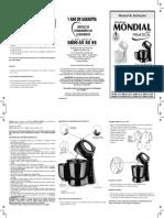 manual batedeira mondial