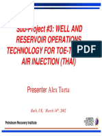 Sub-project #3 Well Andreservoir Operations Technology for Toe-To-heel