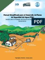 Manual Simplificado Para El Desarrollo de Planes de Seguridad Del Agua