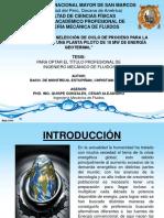 ANÁLISIS TÉRMICO Y SELECCIÓN DE CICLO DE PROCESO PARA LA IMPLEMENTACION DE UNA PLANTA PILOTO DE 10 MW DE ENERGÍA GEOTERMAL